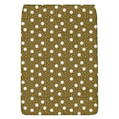 Floral Dots Brown Flap Covers (s)
