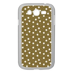 Floral Dots Brown Samsung Galaxy Grand Duos I9082 Case (white)