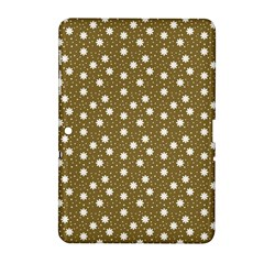 Floral Dots Brown Samsung Galaxy Tab 2 (10 1 ) P5100 Hardshell Case