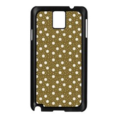 Floral Dots Brown Samsung Galaxy Note 3 N9005 Case (black)