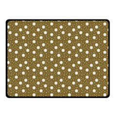 Floral Dots Brown Double Sided Fleece Blanket (small)