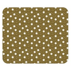 Floral Dots Brown Double Sided Flano Blanket (small)