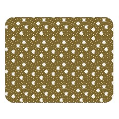 Floral Dots Brown Double Sided Flano Blanket (large)