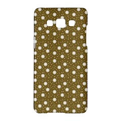 Floral Dots Brown Samsung Galaxy A5 Hardshell Case