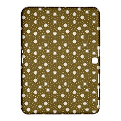 Floral Dots Brown Samsung Galaxy Tab 4 (10 1 ) Hardshell Case