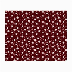 Floral Dots Maroon Small Glasses Cloth