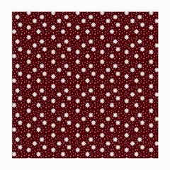 Floral Dots Maroon Medium Glasses Cloth (2 Side)