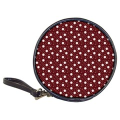 Floral Dots Maroon Classic 20 Cd Wallets