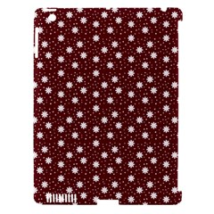 Floral Dots Maroon Apple Ipad 3/4 Hardshell Case (compatible With Smart Cover)