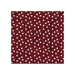 Floral Dots Maroon Acrylic Tangram Puzzle (4  X 4 )
