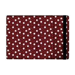 Floral Dots Maroon Apple Ipad Mini Flip Case