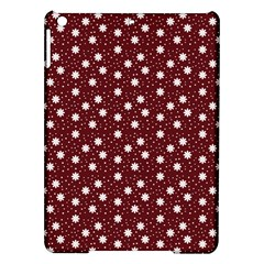 Floral Dots Maroon Ipad Air Hardshell Cases