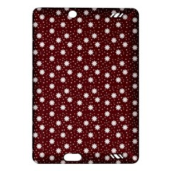 Floral Dots Maroon Amazon Kindle Fire Hd (2013) Hardshell Case