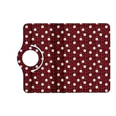 Floral Dots Maroon Kindle Fire Hd (2013) Flip 360 Case