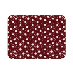 Floral Dots Maroon Double Sided Flano Blanket (mini)