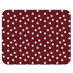 Floral Dots Maroon Double Sided Flano Blanket (medium)