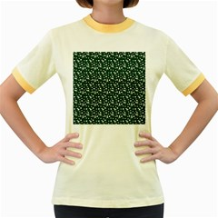 Dinosaurs Green Women s Fitted Ringer T Shirts