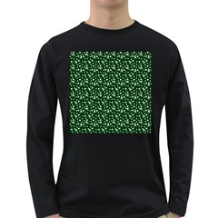 Dinosaurs Green Long Sleeve Dark T Shirts
