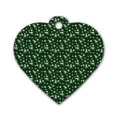 Dinosaurs Green Dog Tag Heart (one Side)