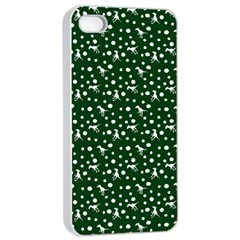 Dinosaurs Green Apple Iphone 4/4s Seamless Case (white)