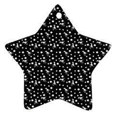 Dinosaurs Black Star Ornament (two Sides)