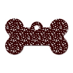 Dinosaurs Red Dog Tag Bone (two Sides)