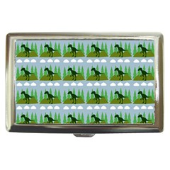 Dino In The Mountains Blue Cigarette Money Cases