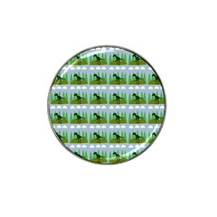 Dino In The Mountains Blue Hat Clip Ball Marker