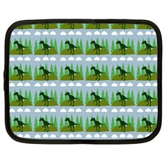 Dino In The Mountains Blue Netbook Case (xxl)
