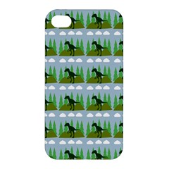 Dino In The Mountains Blue Apple Iphone 4/4s Premium Hardshell Case