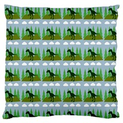 Dino In The Mountains Blue Large Cushion Case (one Side)