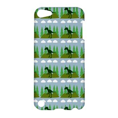 Dino In The Mountains Blue Apple Ipod Touch 5 Hardshell Case