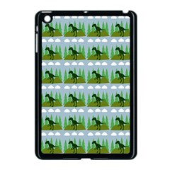 Dino In The Mountains Blue Apple Ipad Mini Case (black)