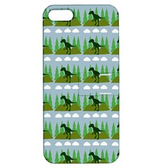 Dino In The Mountains Blue Apple Iphone 5 Hardshell Case With Stand