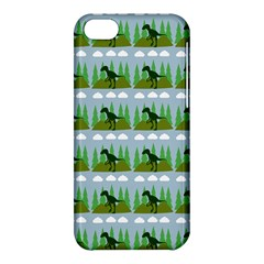 Dino In The Mountains Blue Apple Iphone 5c Hardshell Case