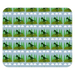 Dino In The Mountains Blue Double Sided Flano Blanket (small)