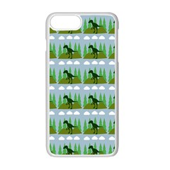 Dino In The Mountains Blue Apple Iphone 7 Plus Seamless Case (white)