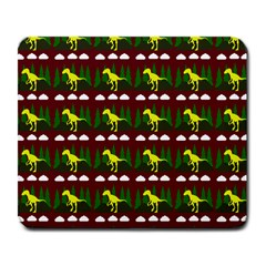 Dino In The Mountains Red Large Mousepads