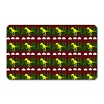 Dino In The Mountains Red Magnet (Rectangular) Front
