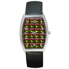Dino In The Mountains Red Barrel Style Metal Watch