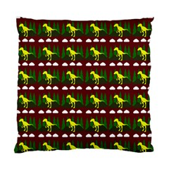 Dino In The Mountains Red Standard Cushion Case (two Sides)