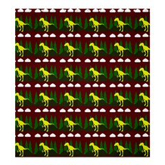 Dino In The Mountains Red Shower Curtain 66  X 72  (large)