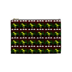 Dino In The Mountains Red Cosmetic Bag (medium)