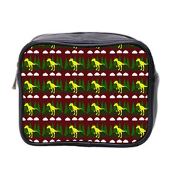 Dino In The Mountains Red Mini Toiletries Bag 2 Side