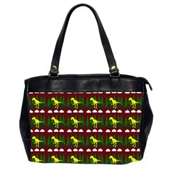 Dino In The Mountains Red Office Handbags (2 Sides)