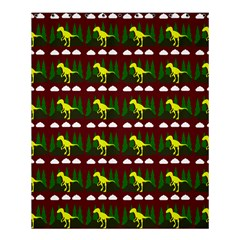 Dino In The Mountains Red Shower Curtain 60  X 72  (medium)