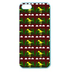 Dino In The Mountains Red Apple Seamless Iphone 5 Case (color)