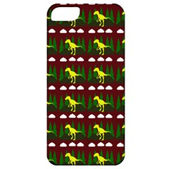 Dino In The Mountains Red Apple Iphone 5 Classic Hardshell Case