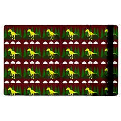 Dino In The Mountains Red Apple Ipad 2 Flip Case