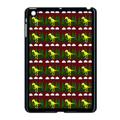 Dino In The Mountains Red Apple Ipad Mini Case (black)